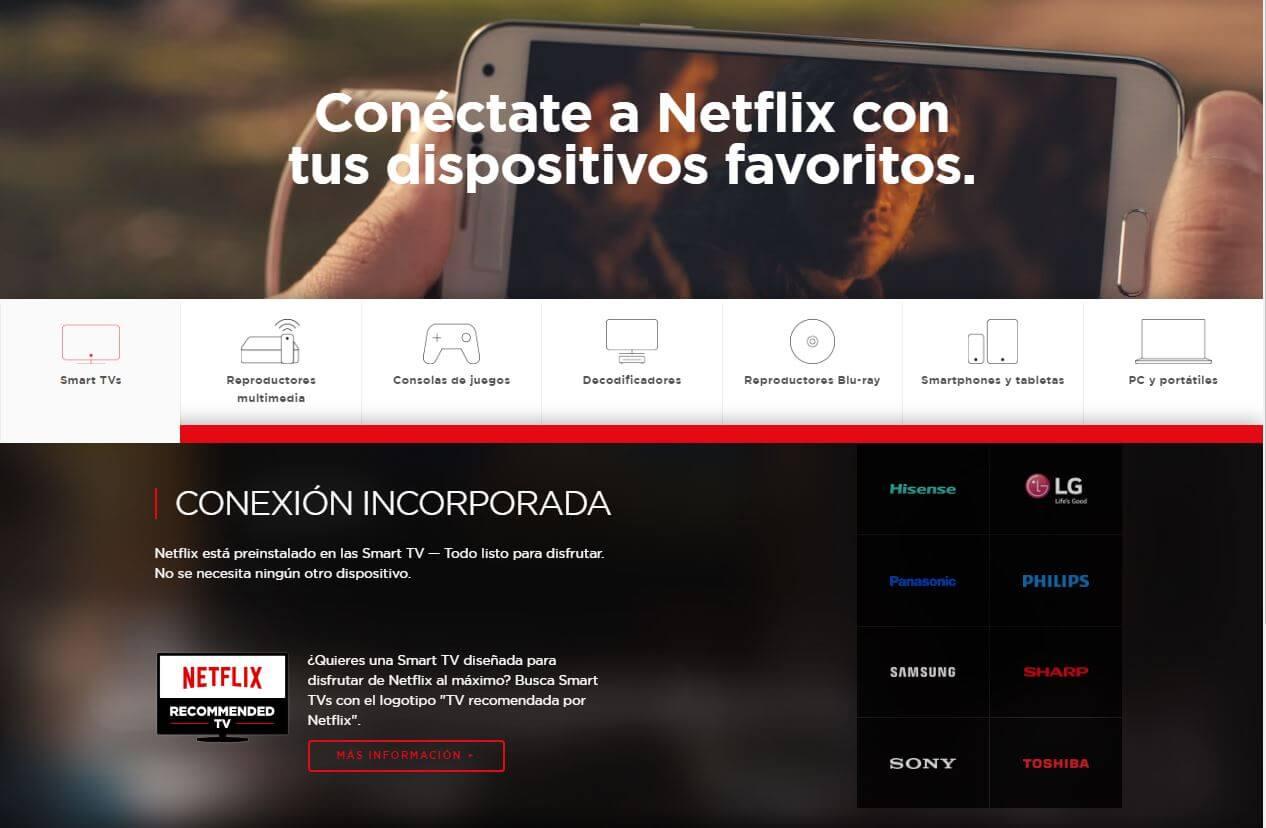 conectate allá donde vayas con Netflix