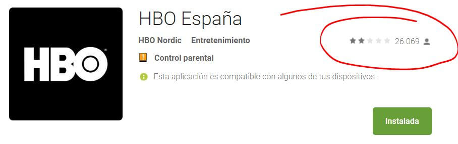 HBO España aplicación Android