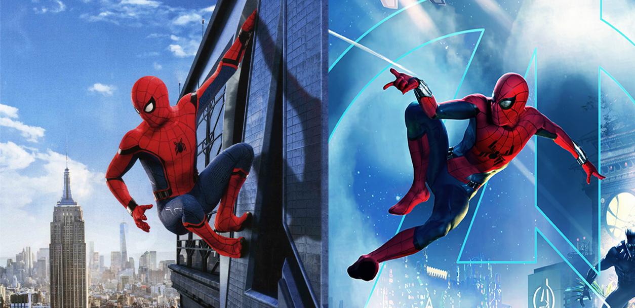 Tom Holland spider-man suit disneyland